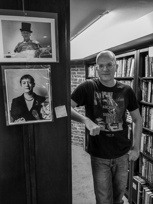 Portrait of Scott Brown in Downtown Brown Books. Photo by Victor Bloomfield.