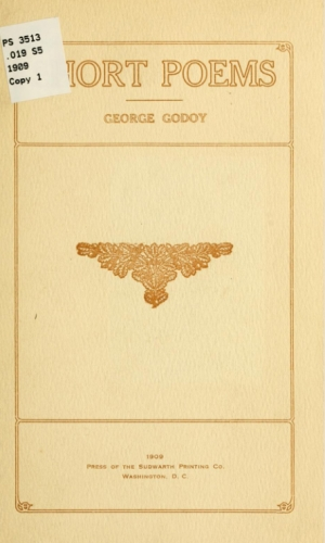 Cover of Short Poems by George Godoy