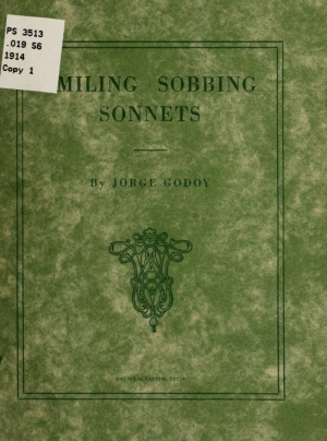 Cover of Smiling Sobbing Sonnets by Jorge (George) Godoy