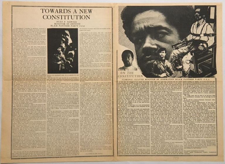 On the Constitution / Message to America / Towards a New Constitution. Eldridge / The Black Panther Party / Huey P. Newton Cleaver.