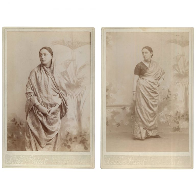 Two Portraits of Dr. Pauline Root [Cabinet Cards]. Abell, Priest, photographers.