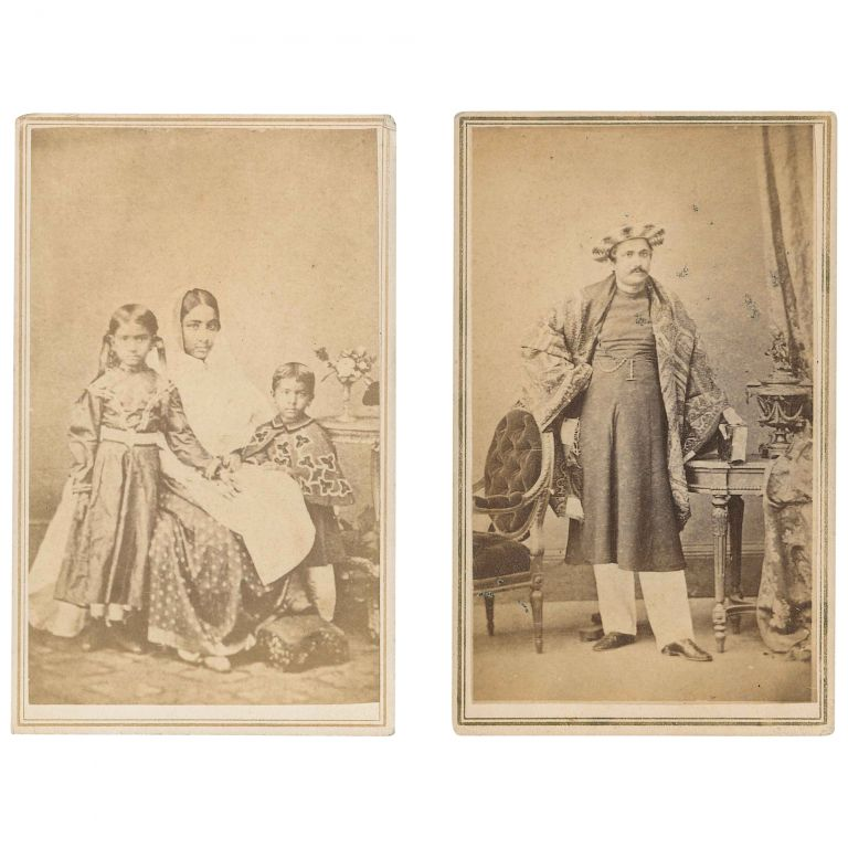 Two CDVs of Indians (from India). William F. Hunter, photographers.