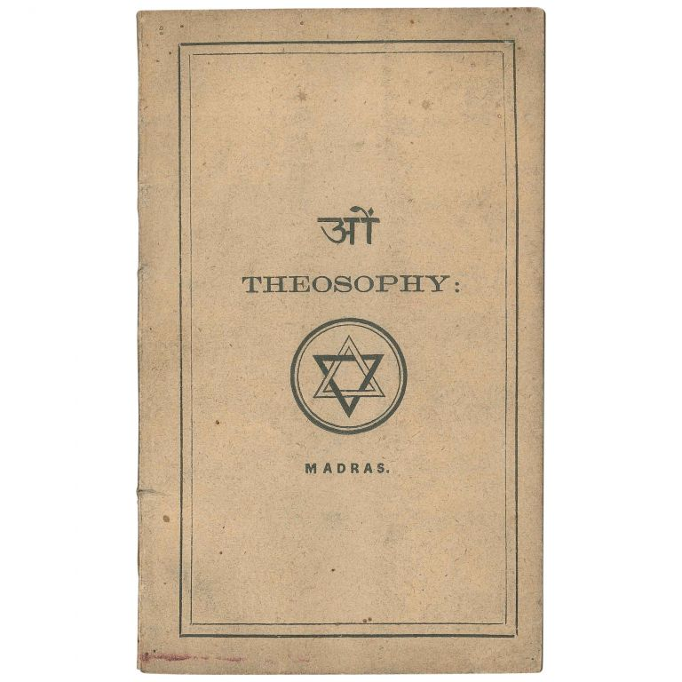 Theosophy: A Few Observations and Explanations Regarding It. P. Sreenevas Row, P. Srinivasa Rao.