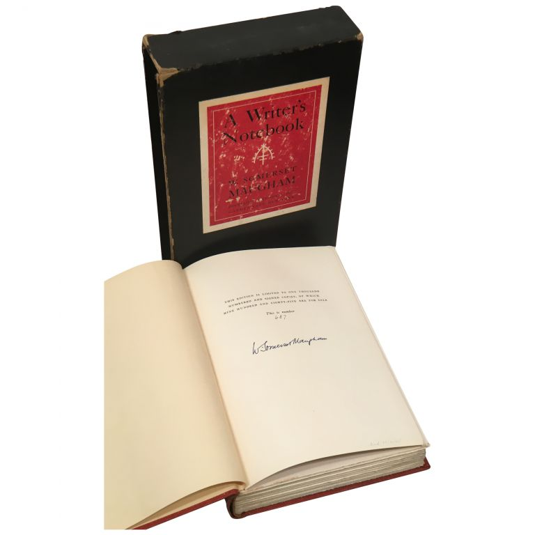 A Writer's Notebook [Signed, Limited]. W. Somerset Maugham.