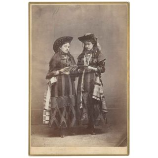 Women Holding Playing Cards - Cabinet Card