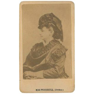 Mrs. Woodhull (Broker) [CDV]. Victoria Woodhull