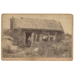 The Little Sod Shanty on the Claim [Cabinet Card]. J. N. Templeman, Jasper Newton