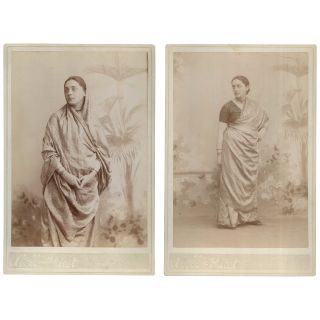 Two Portraits of Dr. Pauline Root [Cabinet Cards]. Abell, Priest, photographers