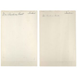 Two Portraits of Dr. Pauline Root [Cabinet Cards]