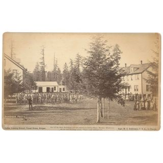 Indian Training School, Forest Grove, Oregon: One of the Main Buildings, erected entirely by...