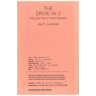 The Drive-in 2 (Not Just One of Them Sequels) [Uncorrected Proof]