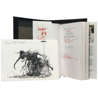 Fahrenheit 451 [Signed, Lettered, with a Steadman Lithograph]. Ray Bradbury, Ralph Steadman