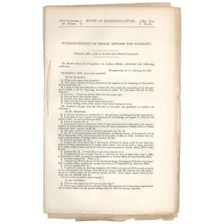 Superintendent of Indian Affairs for Colorado. Alexander Cummings