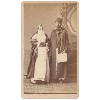 CDV of a Middle Eastern Couple