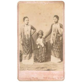 Portrait of Mah Hmet, Woon Thit, and Mah Khin of Burma [CDV]. Charles Eisenmann