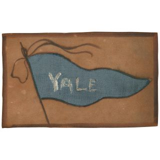 Yale Pennant Leather Postcard (unused