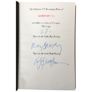 Fahrenheit 451 [Signed, Numbered]