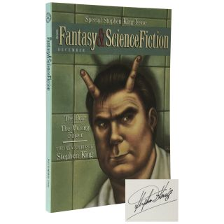 Special Stephen King Issue of the Magazine of Fantasy and Science Fiction [Signed Issue]. Stephen...