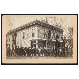 United Brethren Chinese Mission in Portland, Oregon, Cabinet Card Photograph