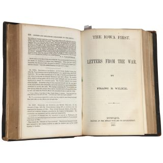 The Iowa First: Letters from the War in a US Civil War Sammelband [Dred Scott Decision; Vallandigham on Abolition, etc.]