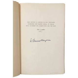 A Writer's Notebook [Signed, Limited]