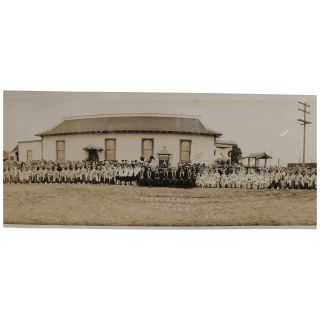 Panoramic Photograph] [Commemoration of the Completion of the Church Assembly Hall and the Entry...
