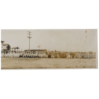 [Panoramic Photograph] [Commemoration of the Completion of the Church Assembly Hall and the Entry of the Buddha]