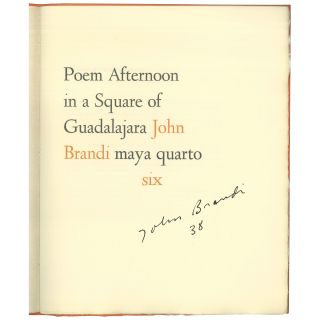 Poem Afternoon in a Square of Guadalajara [1 of 50 Signed Copies]