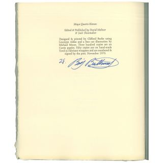 Greystone Pomes [1 of 50 Signed Copies]