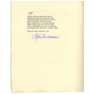 A Pitchblende [1 of 50 Signed Copies]