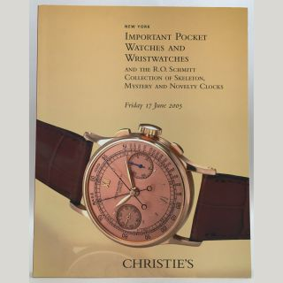 Important Pocket Watches and Wristwatches and the R. O. Schmitt Collection of Skeleton, Mystery,...