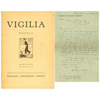 Vigilia [Inscribed with Autograph Letter]. Enrique Anderson Imbert