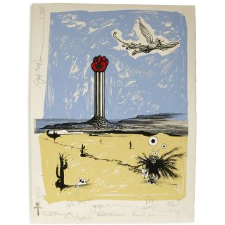 Going Home (Dr. Hunter S. Thompson Gonzo Memorial) [Silkscreen Print]. Ralph Steadman, Hunter S....