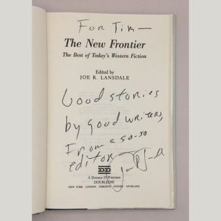 The New Frontier: The Best of Today's Western Fiction