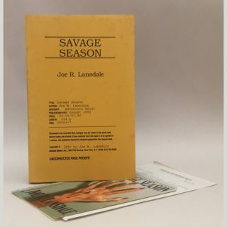 Savage Season [Uncorrected Proof]. Joe R. Lansdale