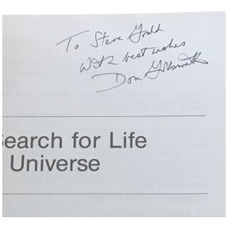 The Search for Life in the Universe [Inscribed]